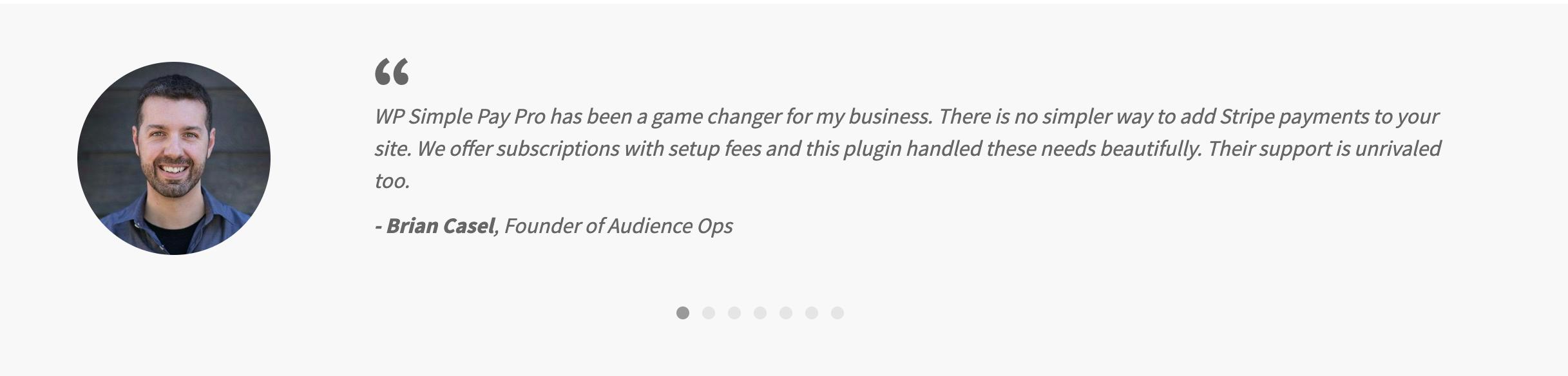 Customer Reviews- WP Simple Pay