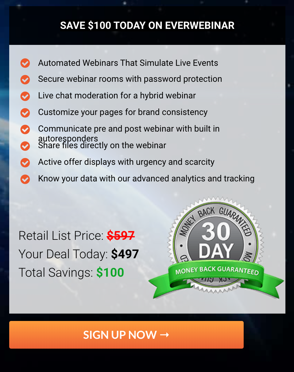 EverWebinar Pricing Plans