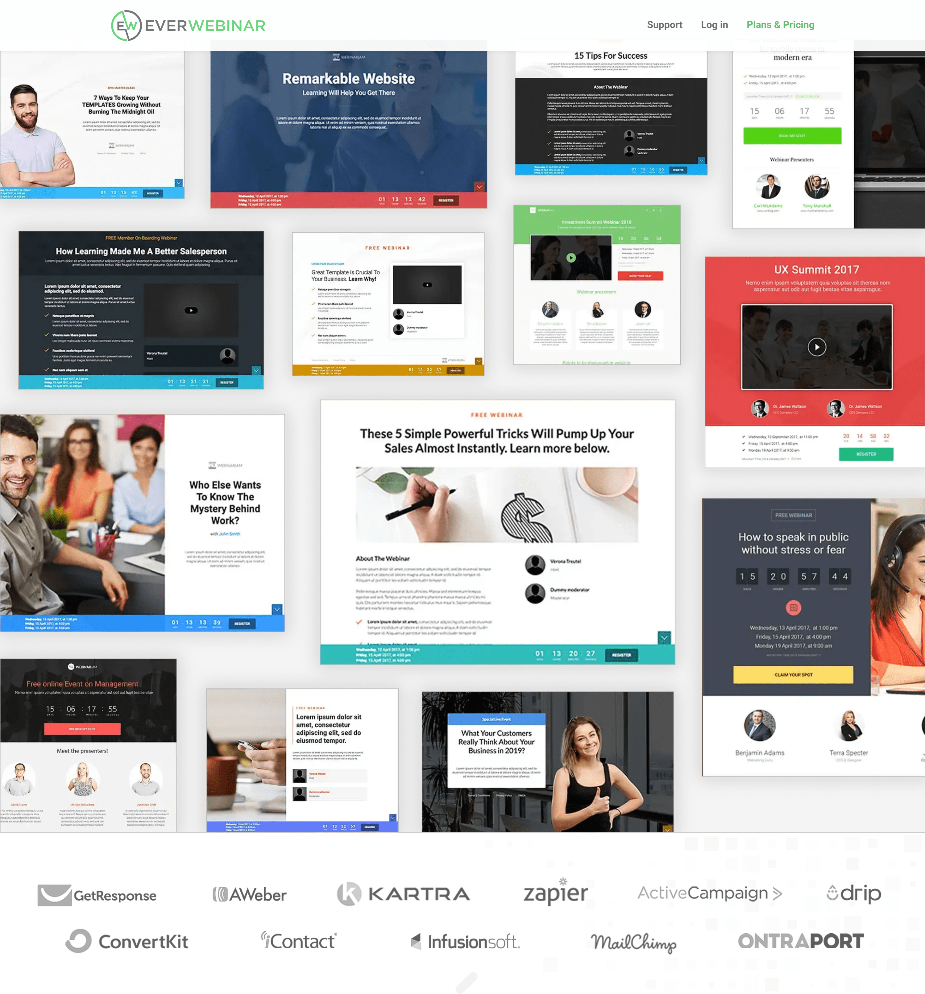 Everwebinar templates