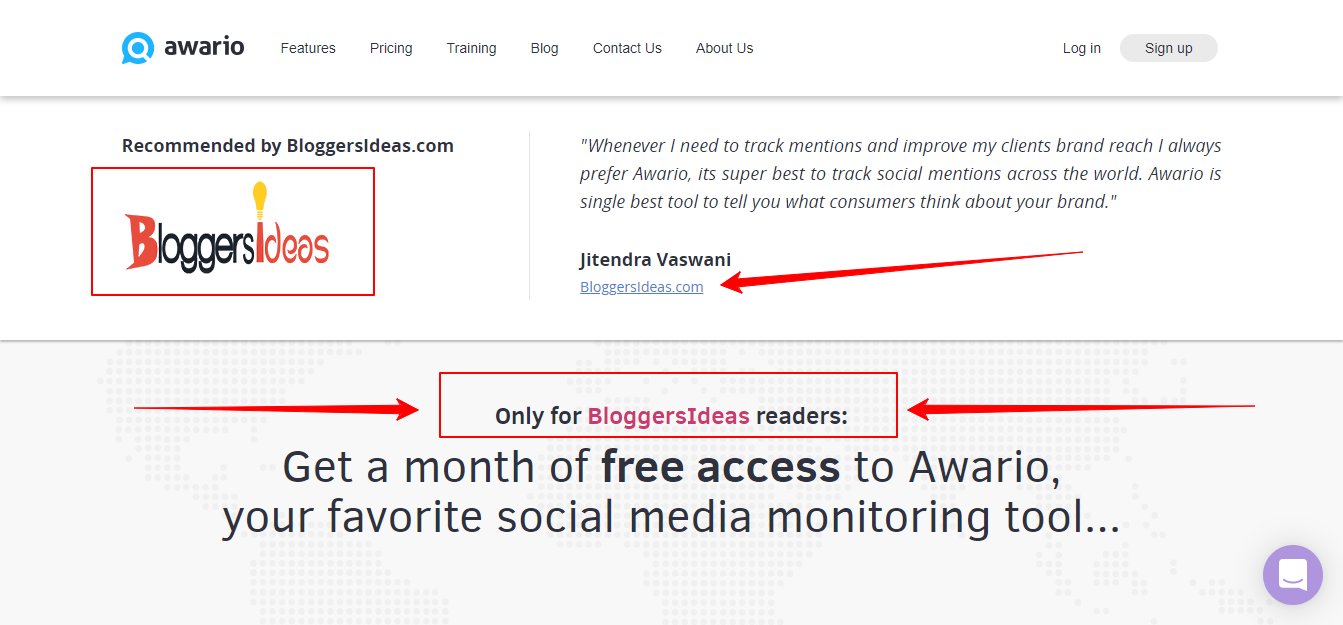 Awario Offer Only For Bloggersideas
