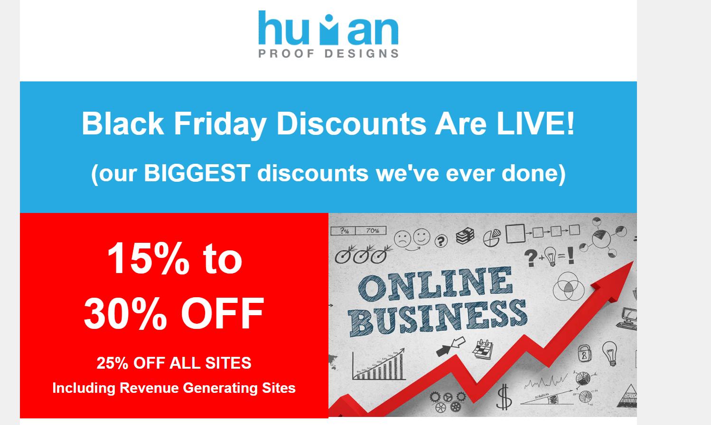 Human proof designs Black Friday Deals