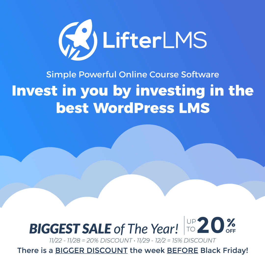 LifterLMS WordPress Black Friday Cyber Monday Deals
