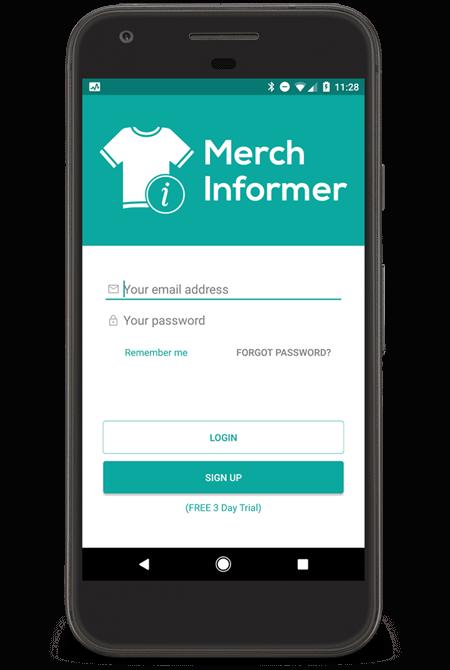 Merch Informer Mobile App