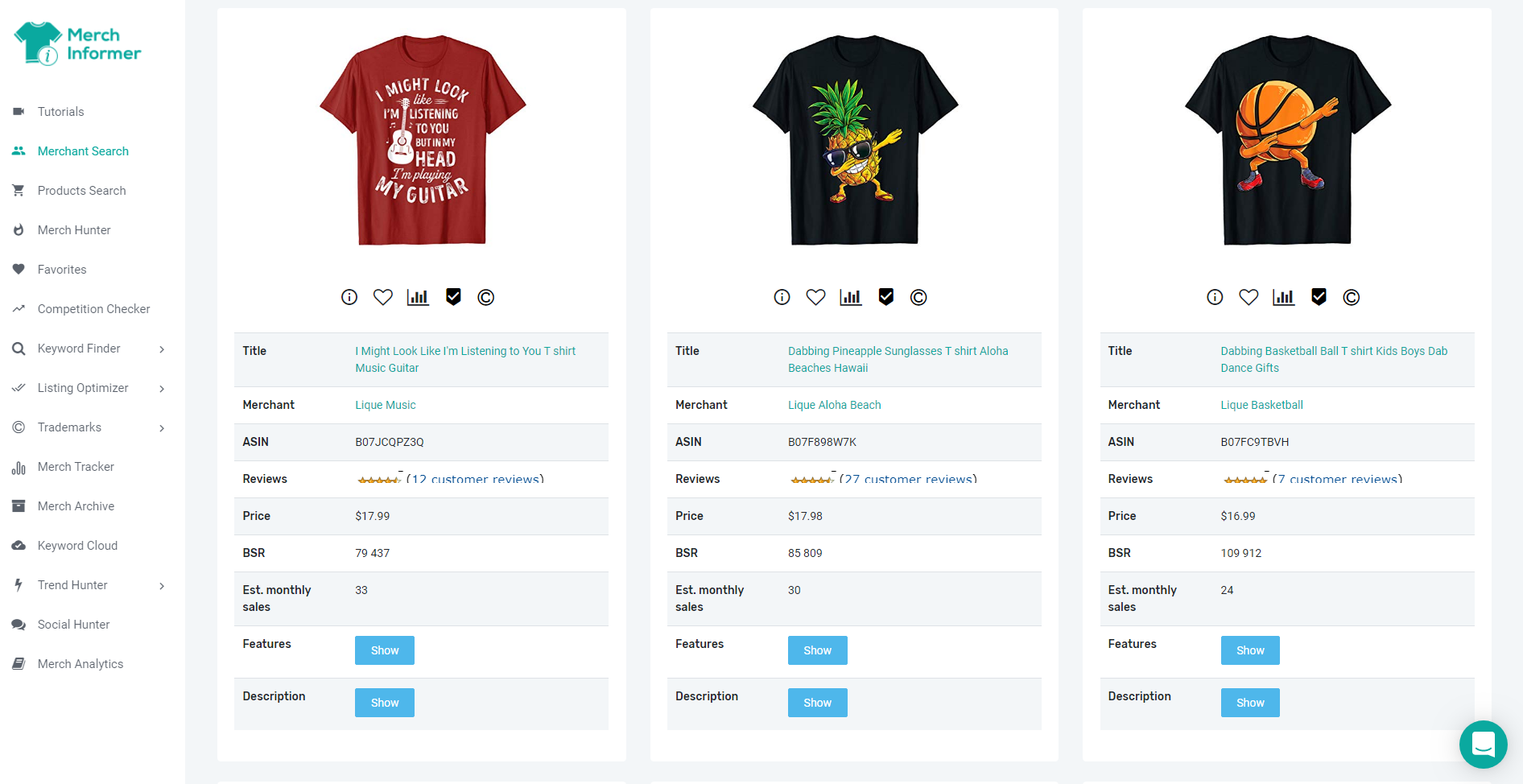 Merch Informer Review - Create own products