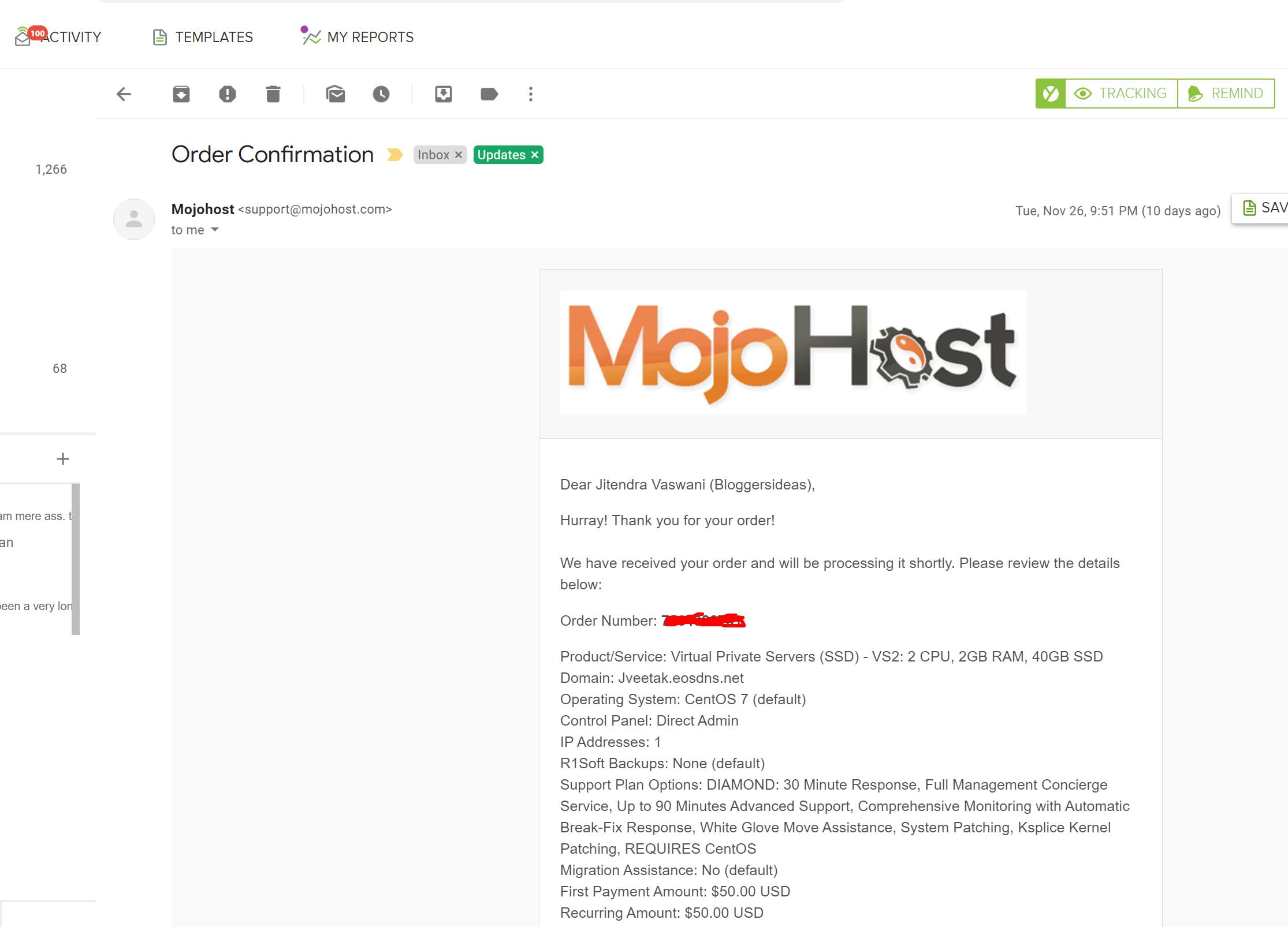 Mojohost reviews proof