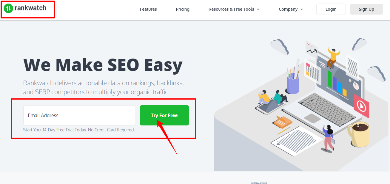 Online Rank Tracker SERP Checker Rank Monitoring Software - RankWatch com