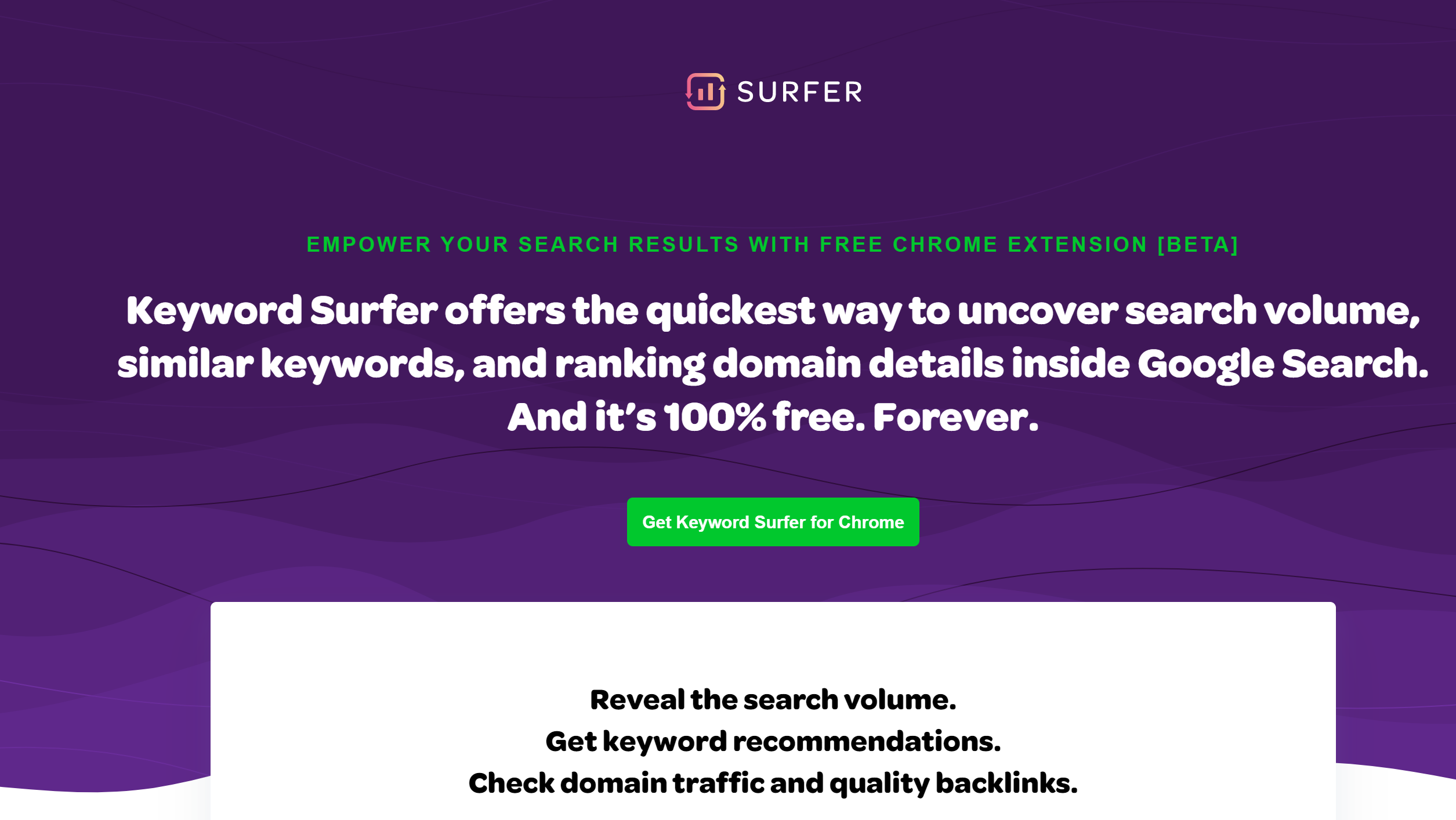 surfer SEO tool analysis Chrome extension