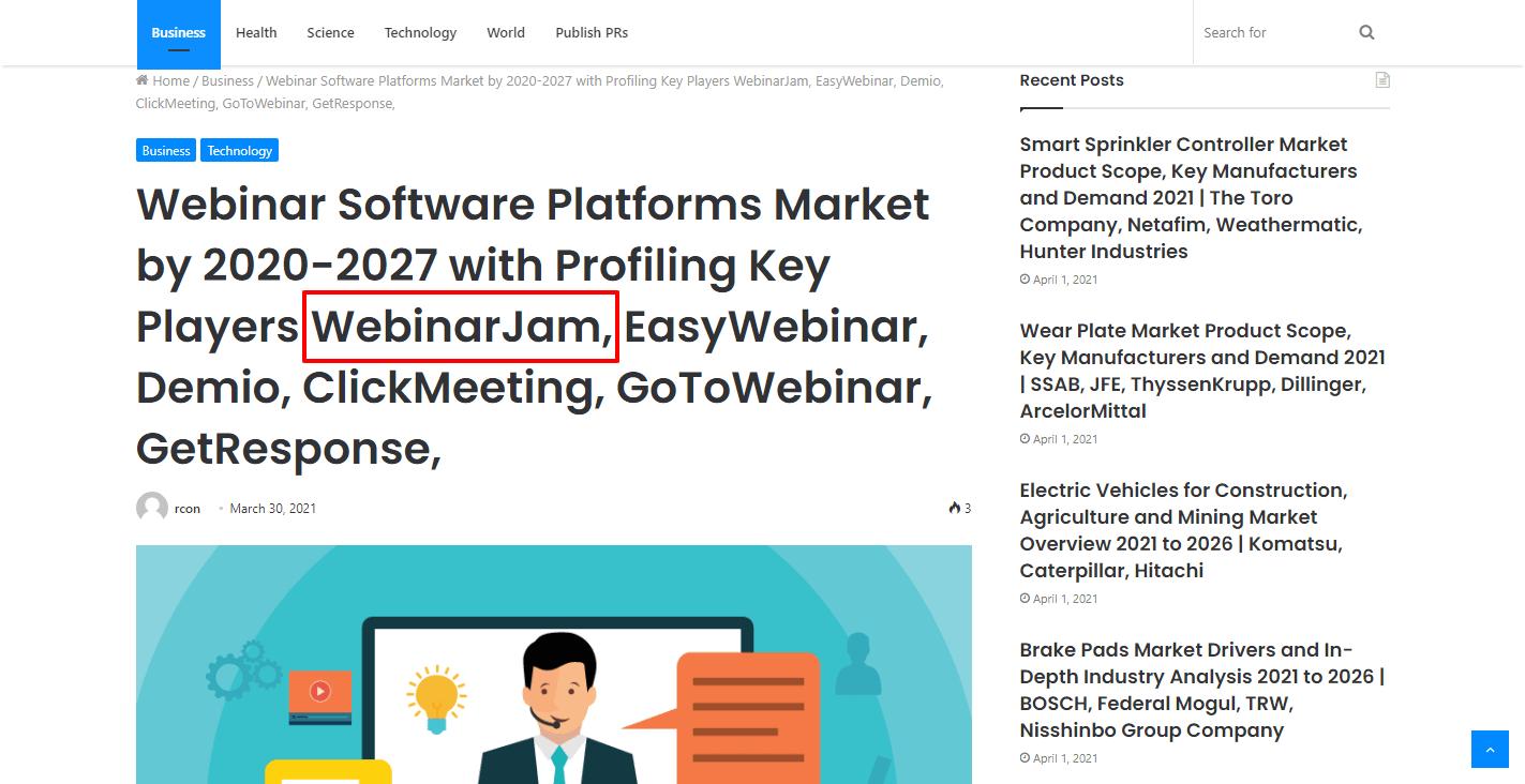 Webinar Software Platforms Market by 2020-2027