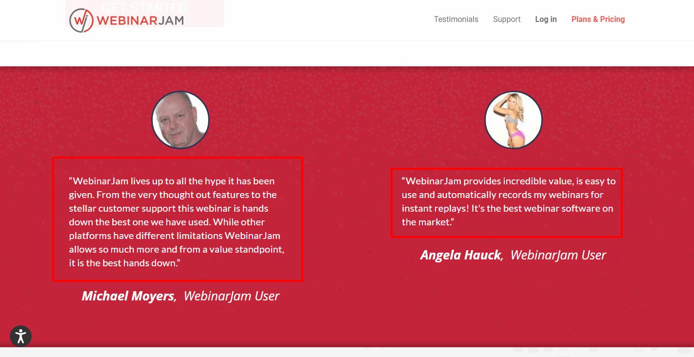WebinarJam Testimonials