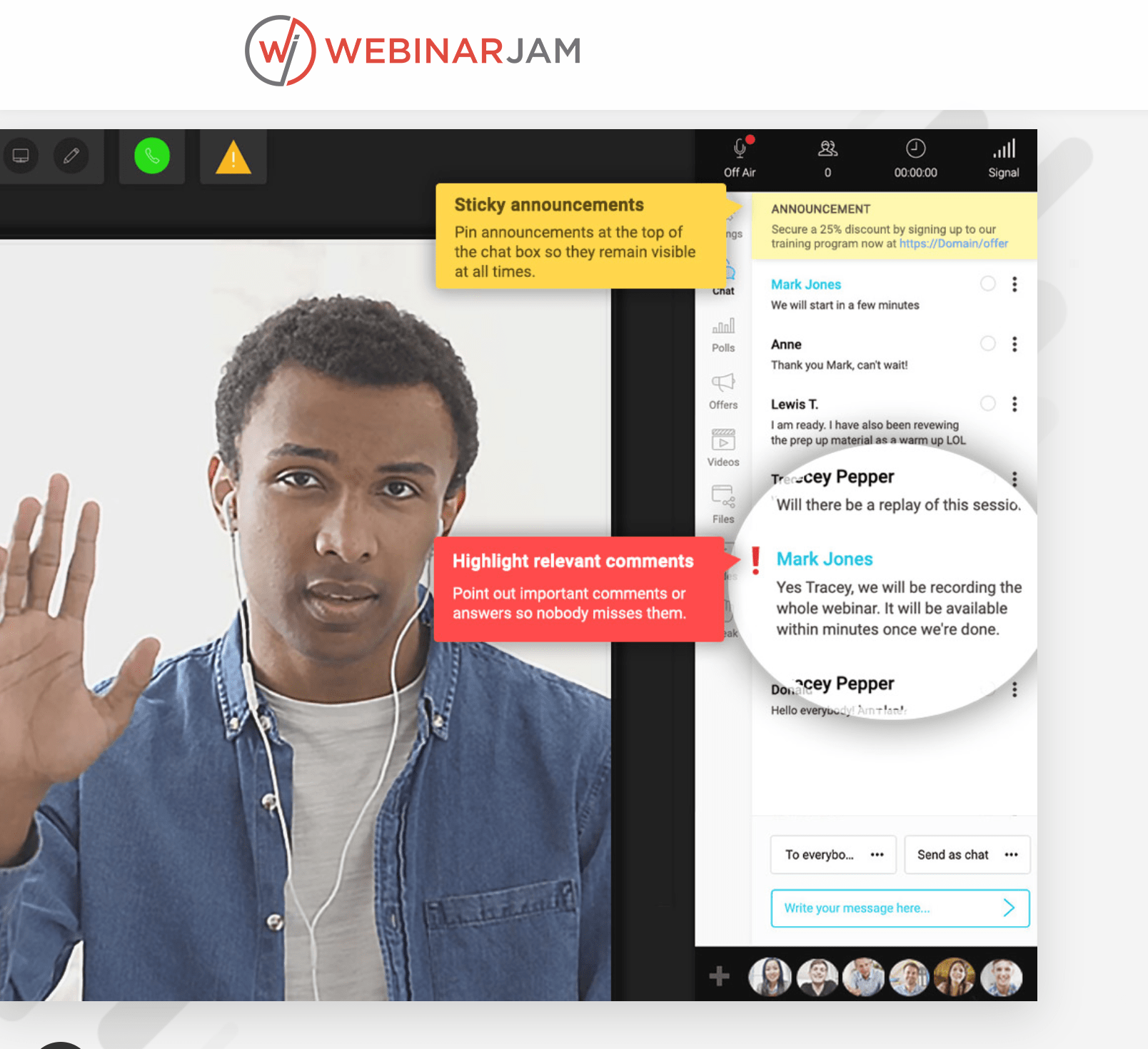 Webinarjam chat sessions