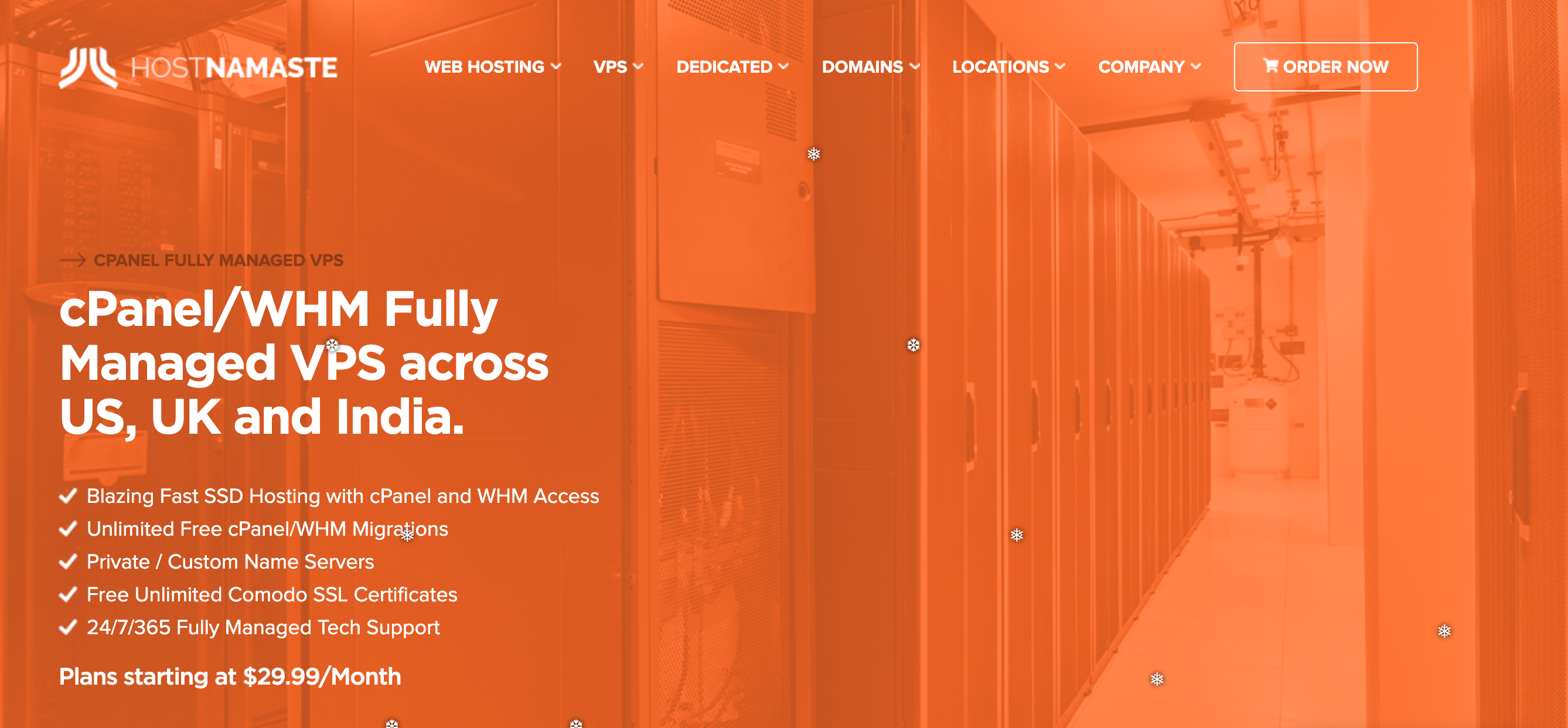 HostNamaste Review- Fully managed VPS