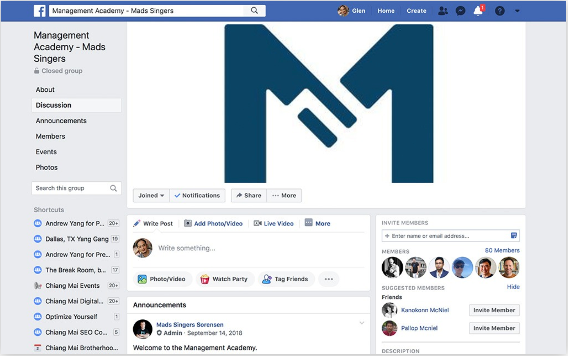 Mads Management Academy Facebook Group
