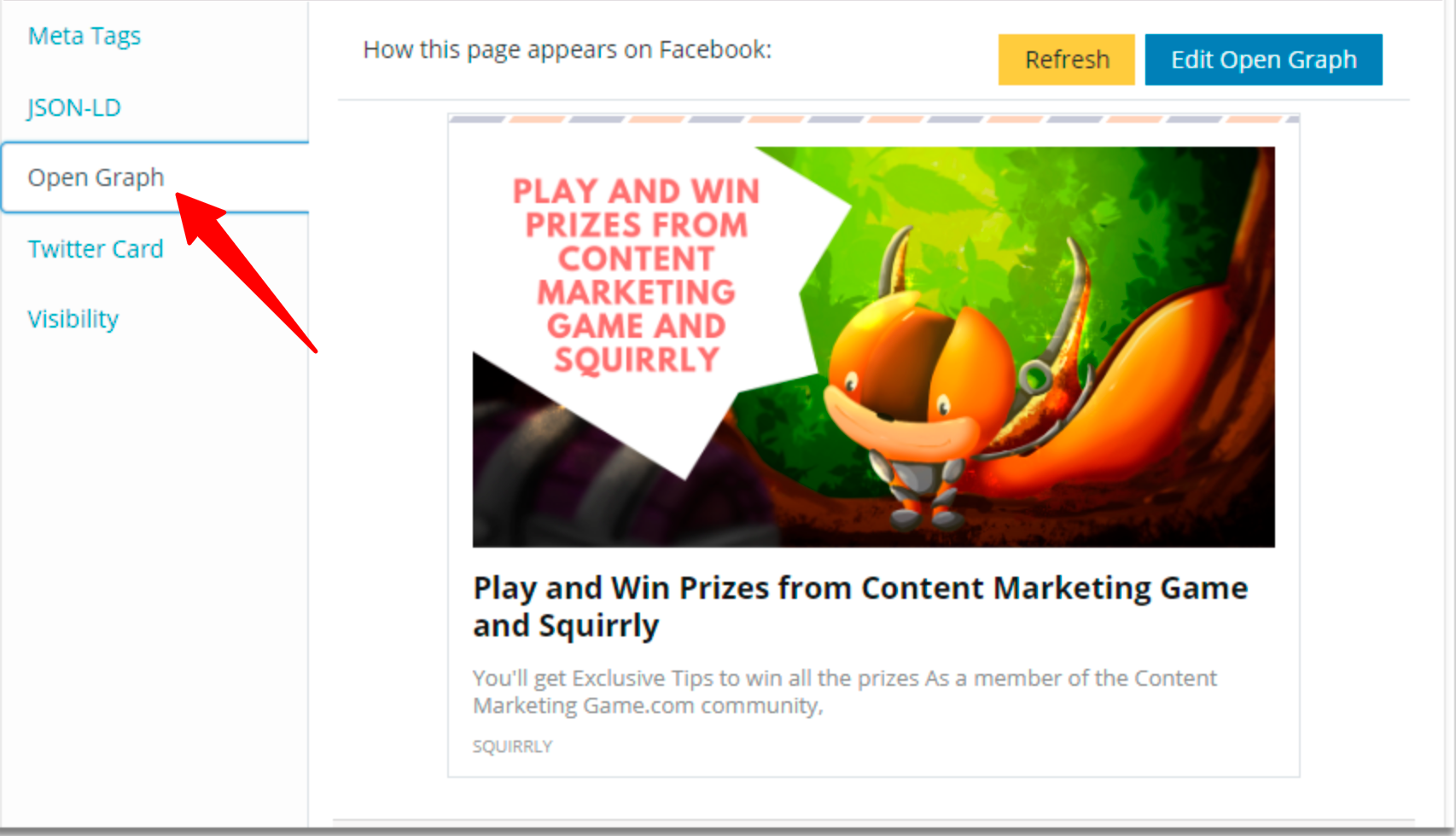 Squirrly SEO Plugin Review- Open Graph