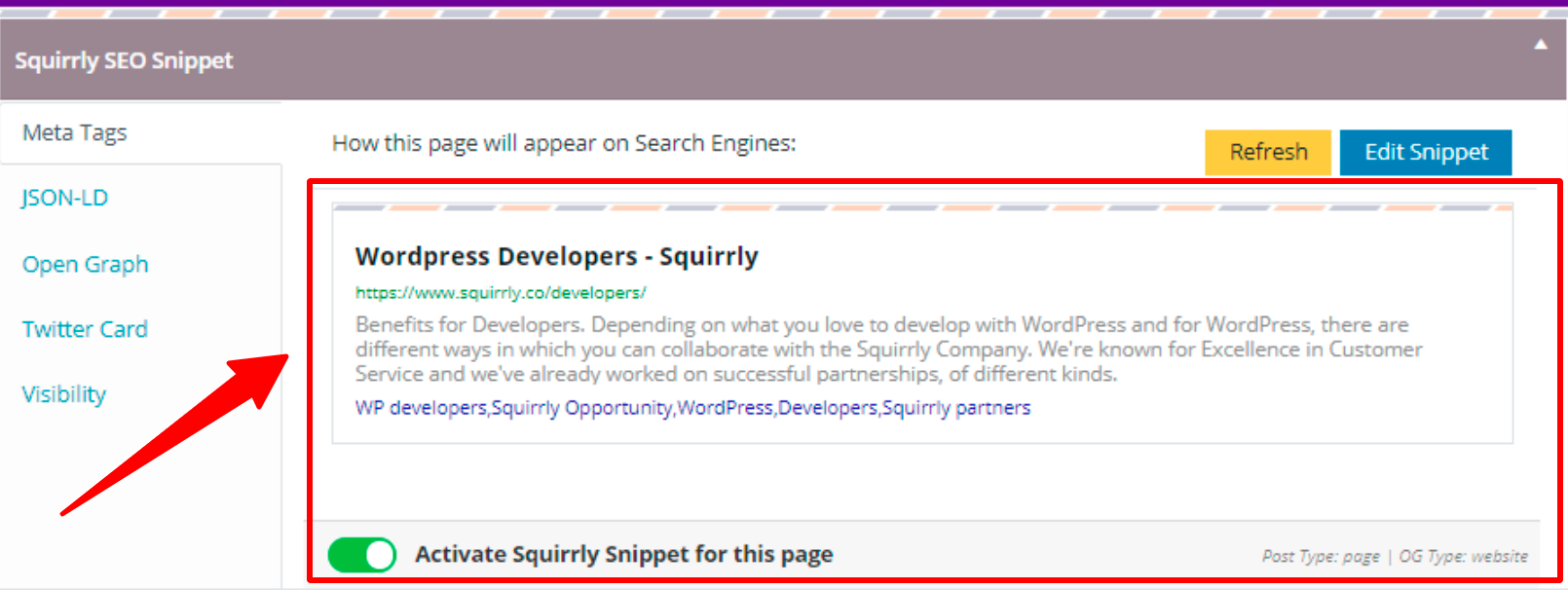 SEO Snippet Tool - Squirrly SEO