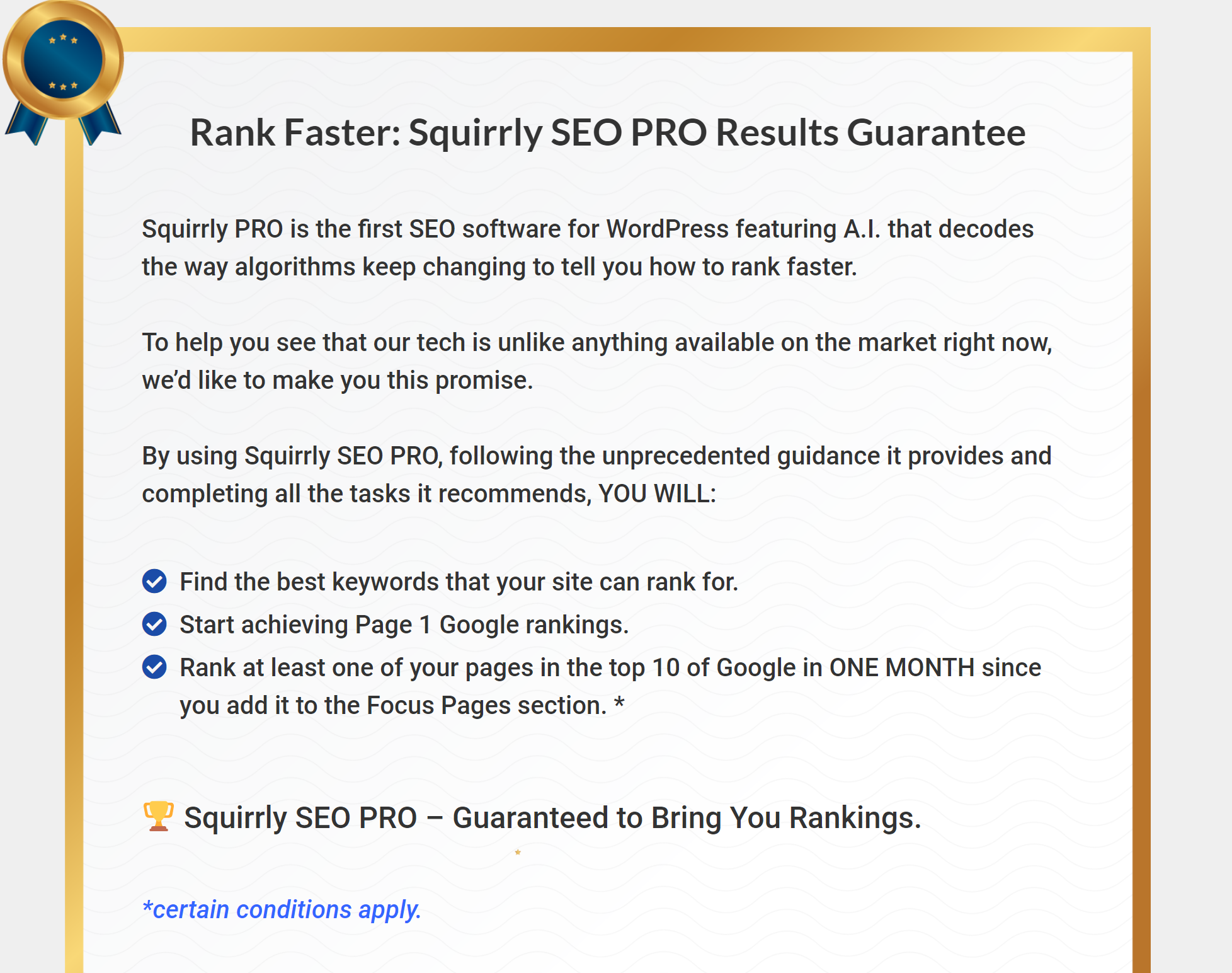 Squirrly SEO review plugin