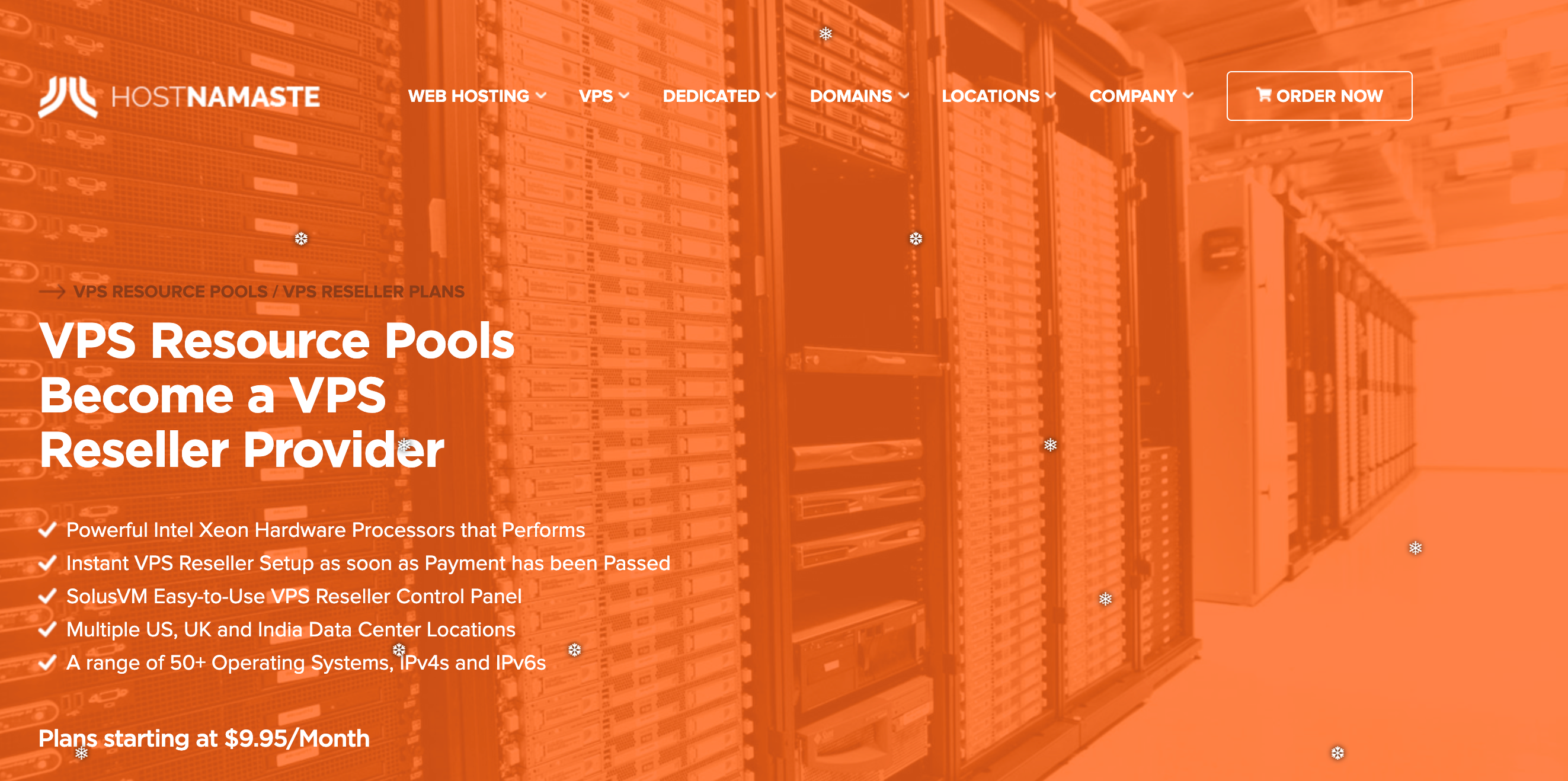 HostNamaste Review- VPS Resource Pools