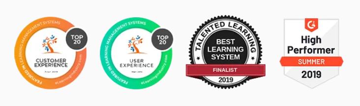 LearnWorlds Award & Achievements