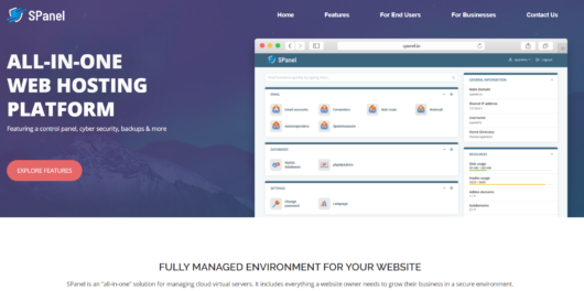 SPanel Review - All-in-one web hosting
