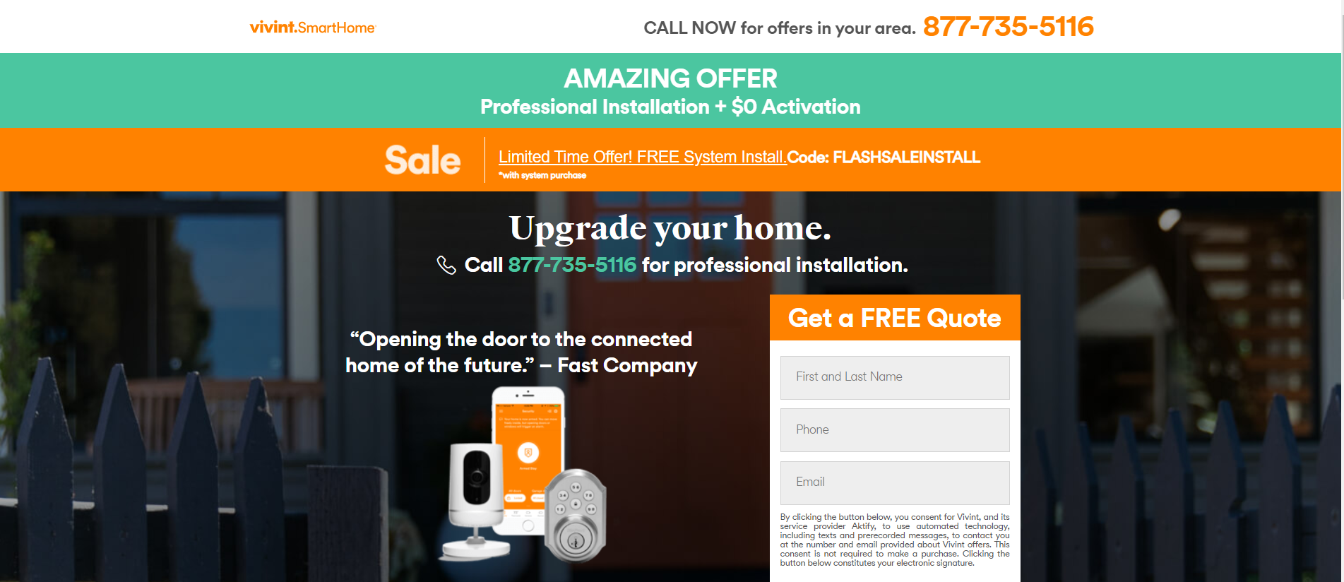 Vivint Smart Home Discount Coupon