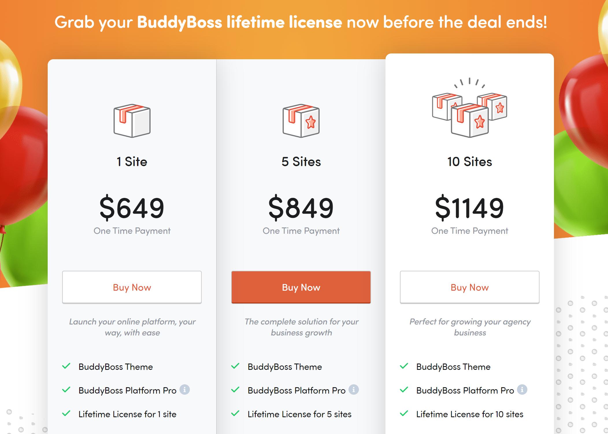 buddyboss lifetime deal offers