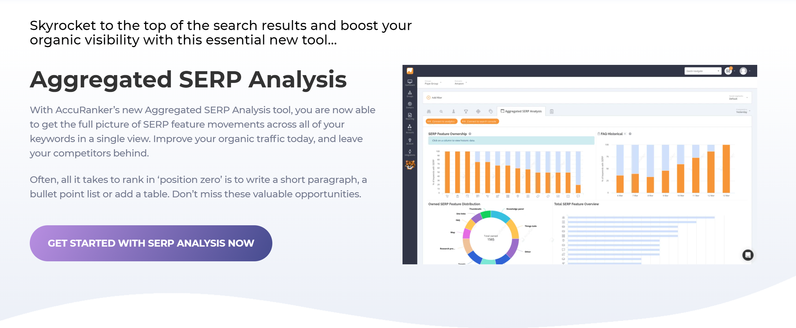 Accuranker aggregated seo tool