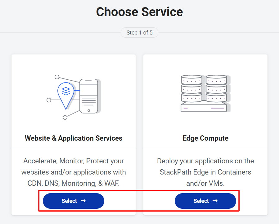 Choose Service - StackPath CDN Review
