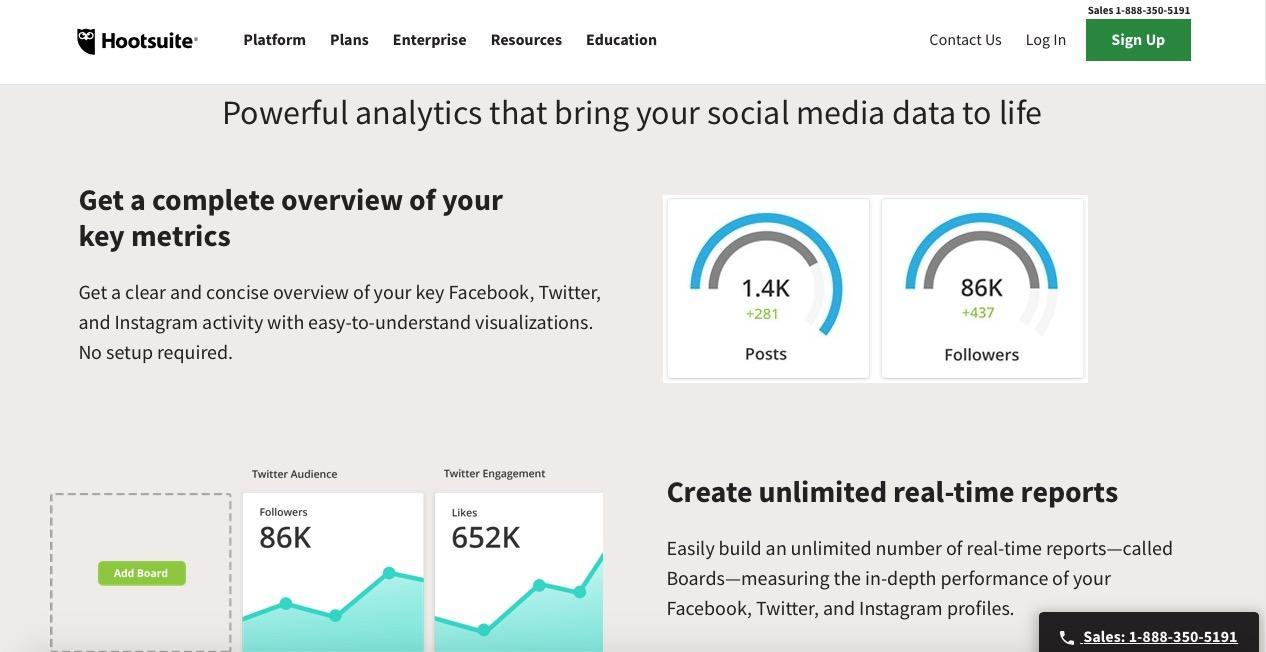 Hootsuite - Instagram analytic Tool