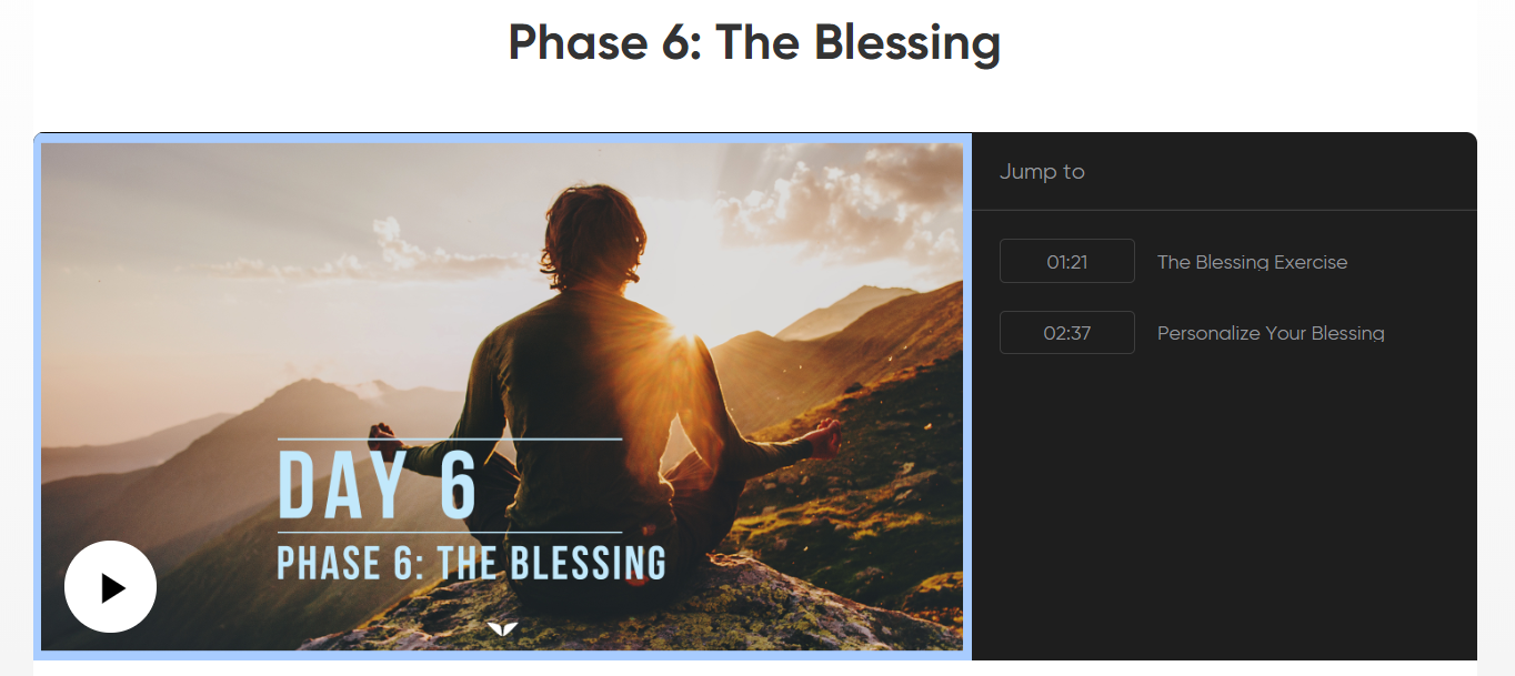 6 Phase Meditation Review - The Blessing