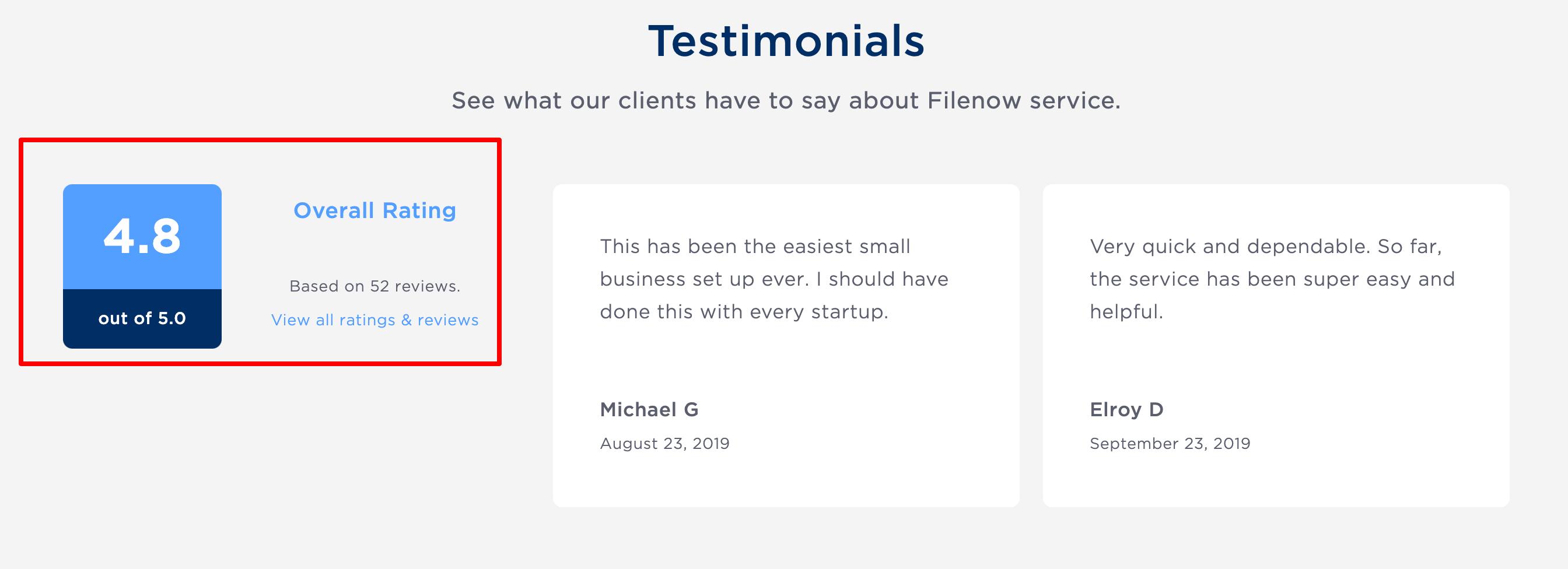 Filenow- Customer Testimonials