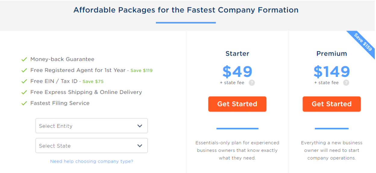 Filenow Pricing Plans