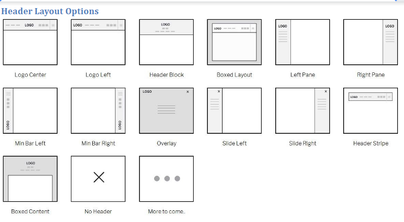 Shoppe Theme Review- Header Layout Options