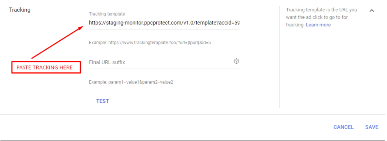 PPC Protect Paste The Tracking