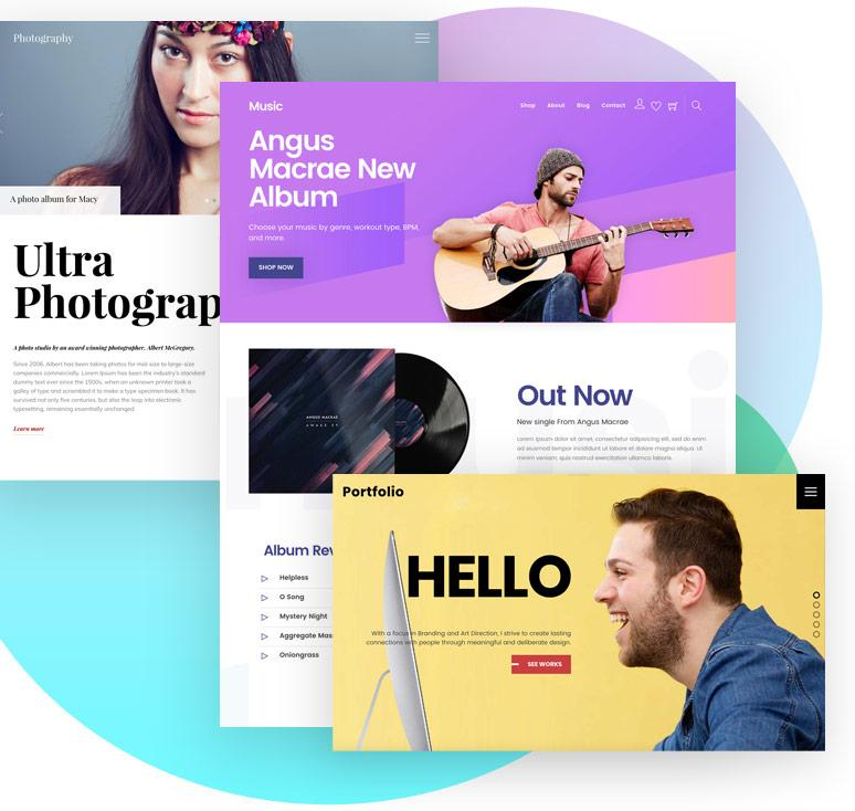 Predesigned Themes and Templates
