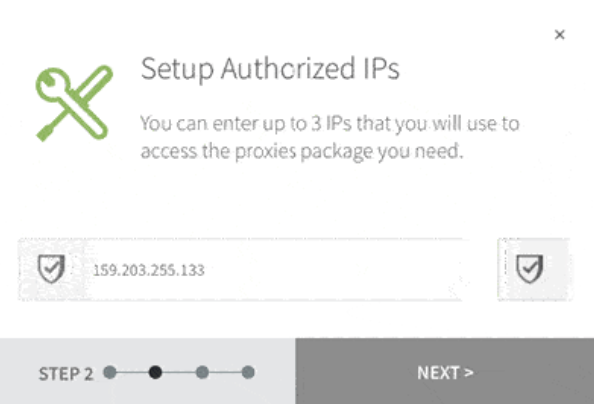 setup authorised IPS