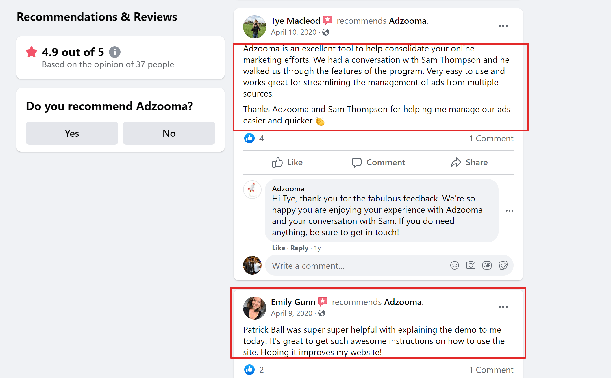Adzooma reviews by users