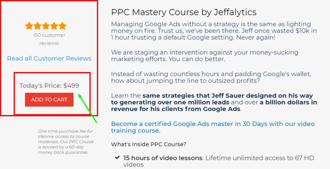 Best PPC Courses - PPCcourse Pricing Plan