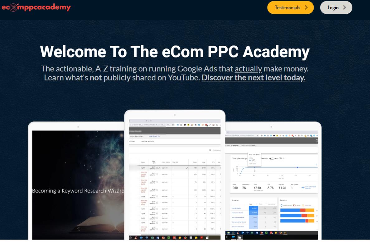 Best PPC Courses - Ecom PPC Academy