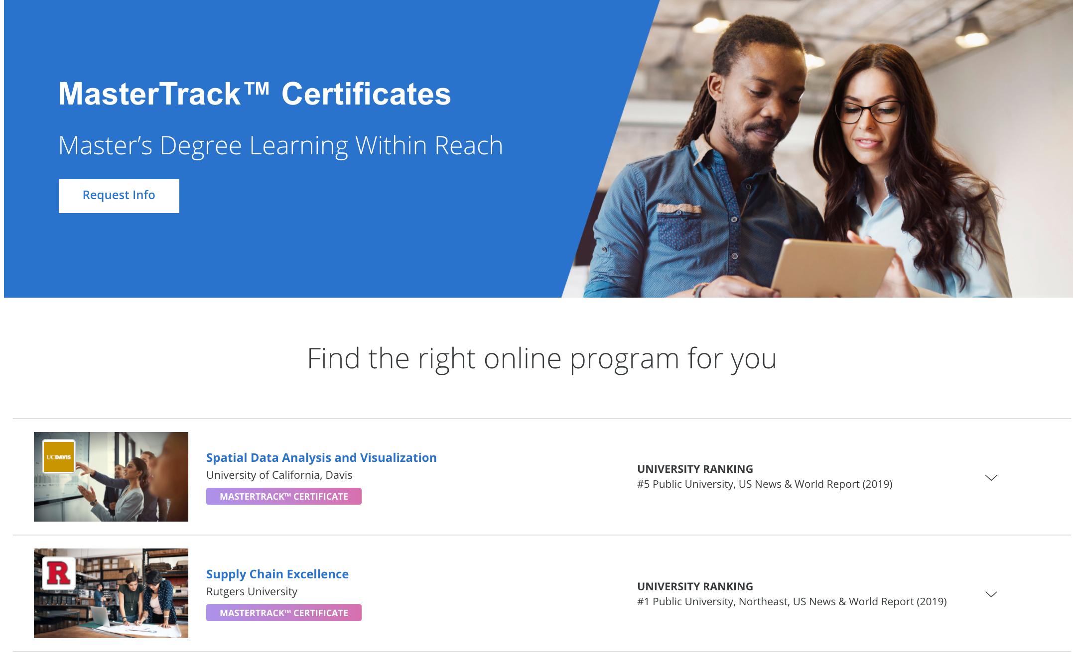 Coursera - MasterTrack™ Certificate