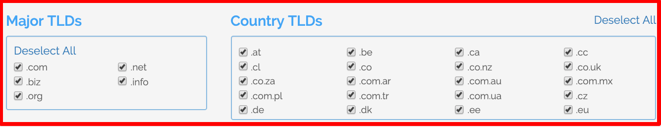Domains Extensions