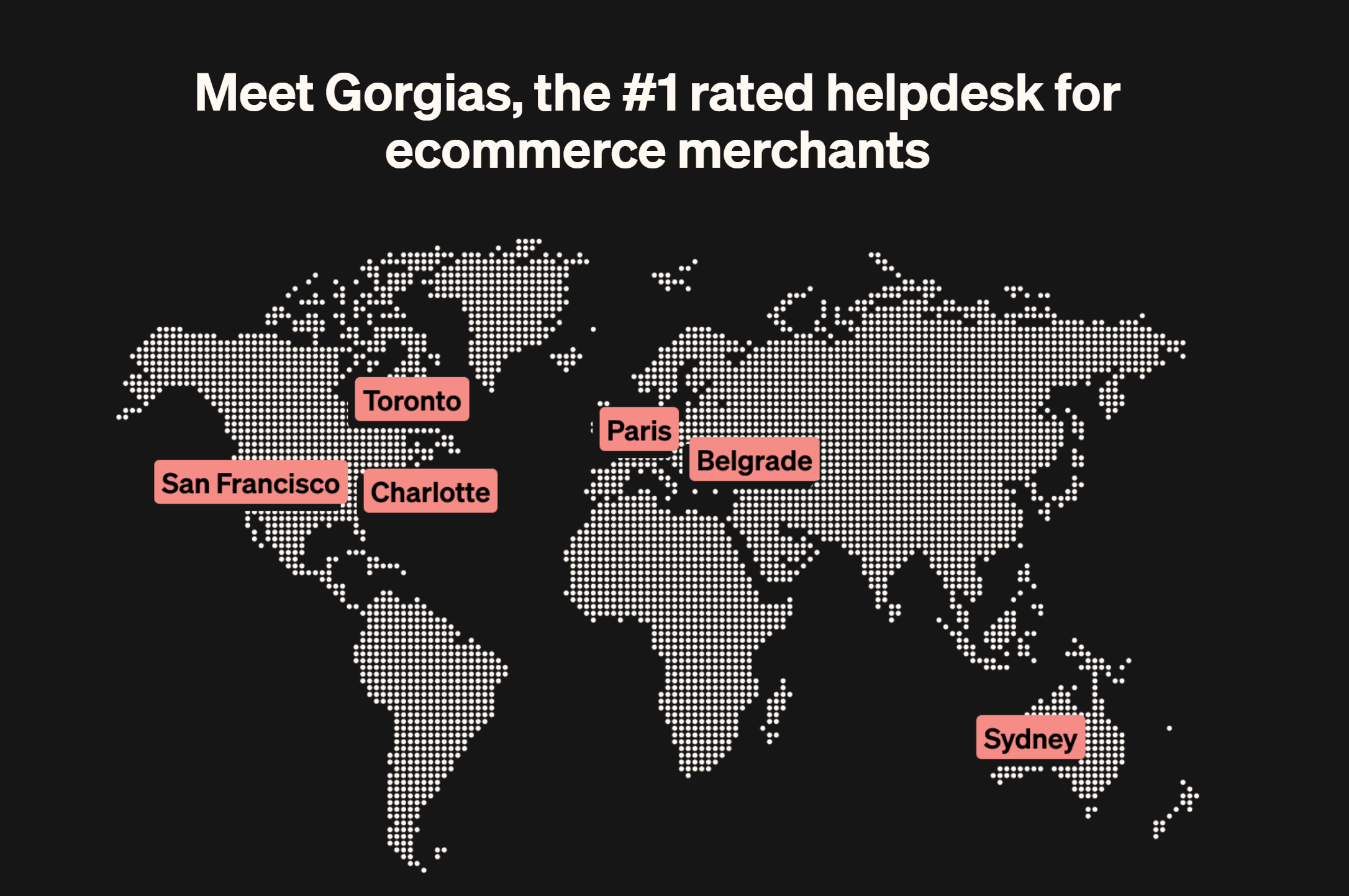 Gorgias helpdesk for ecommerce merchants