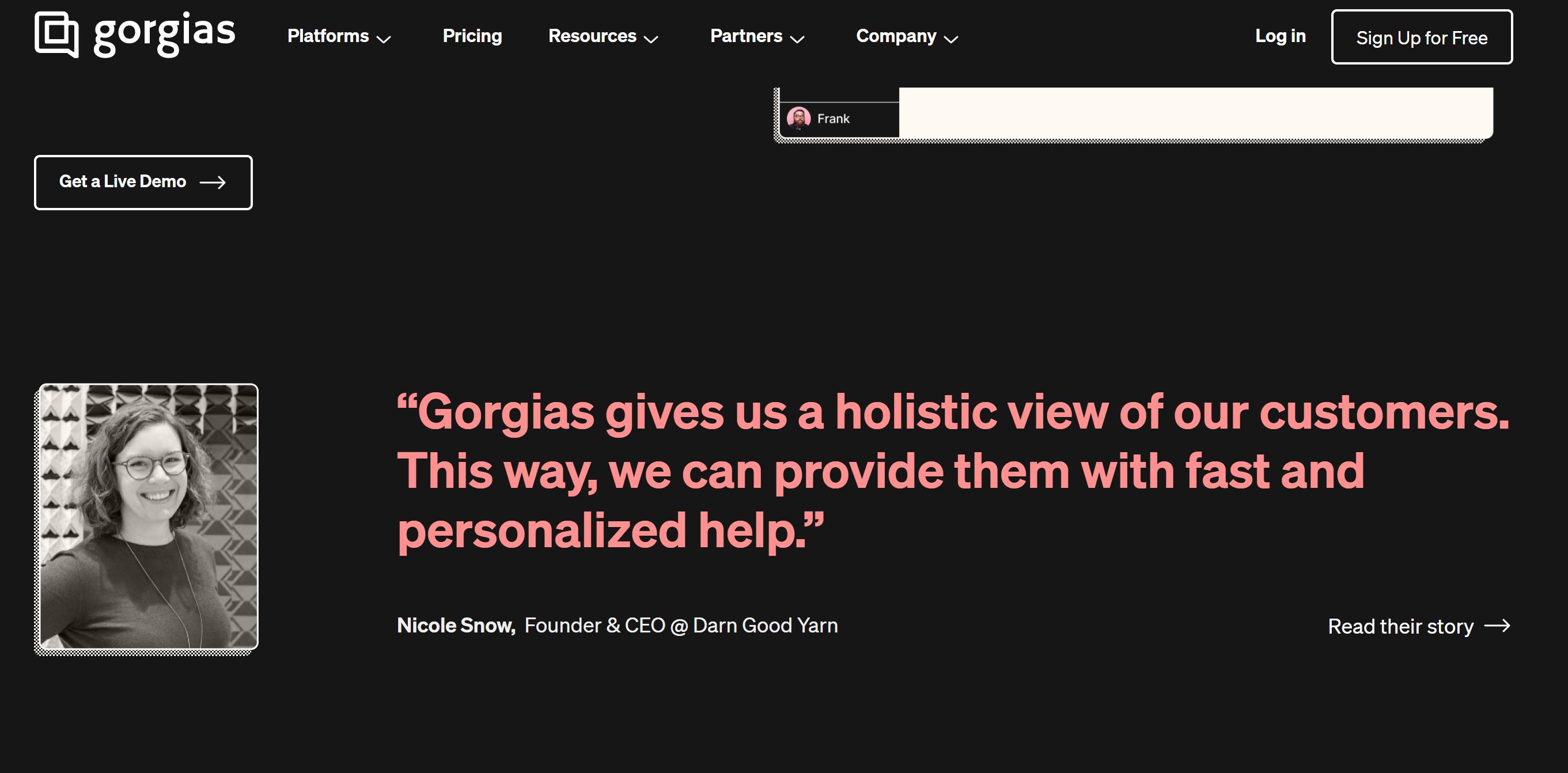 Gorgias helpdesk