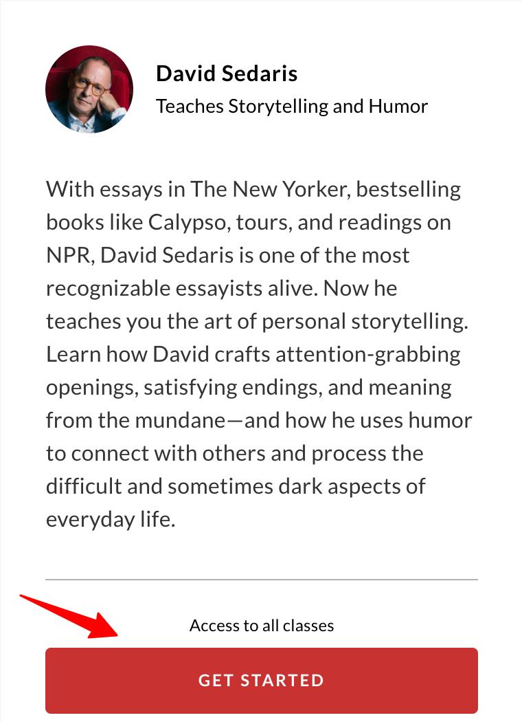 MasterClass - David Sedaris