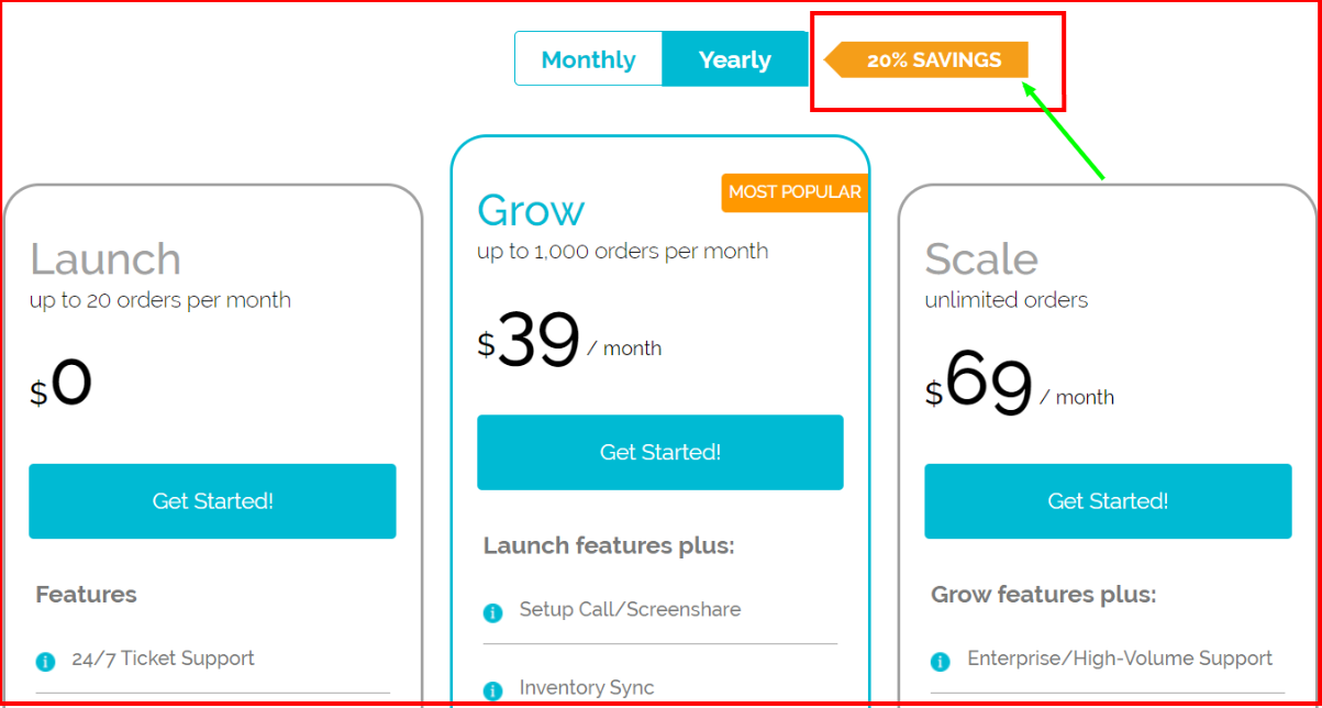 MyWorks Review - Pricing Plan