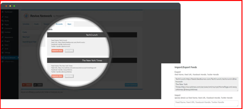 Revive Social Review - Revive NetWork Plugin Setup