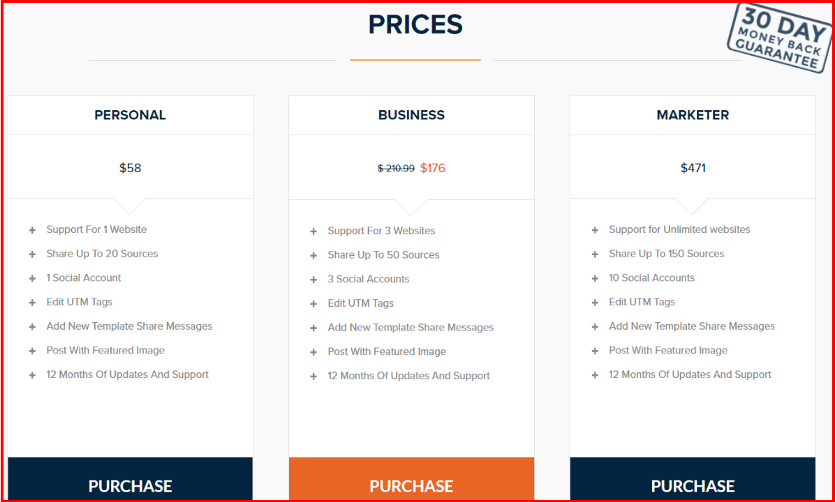 Revive Social Review - Revive NetWork Pricing Plan