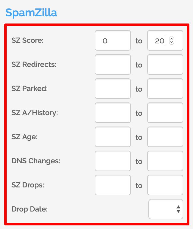 SpamZilla Filters