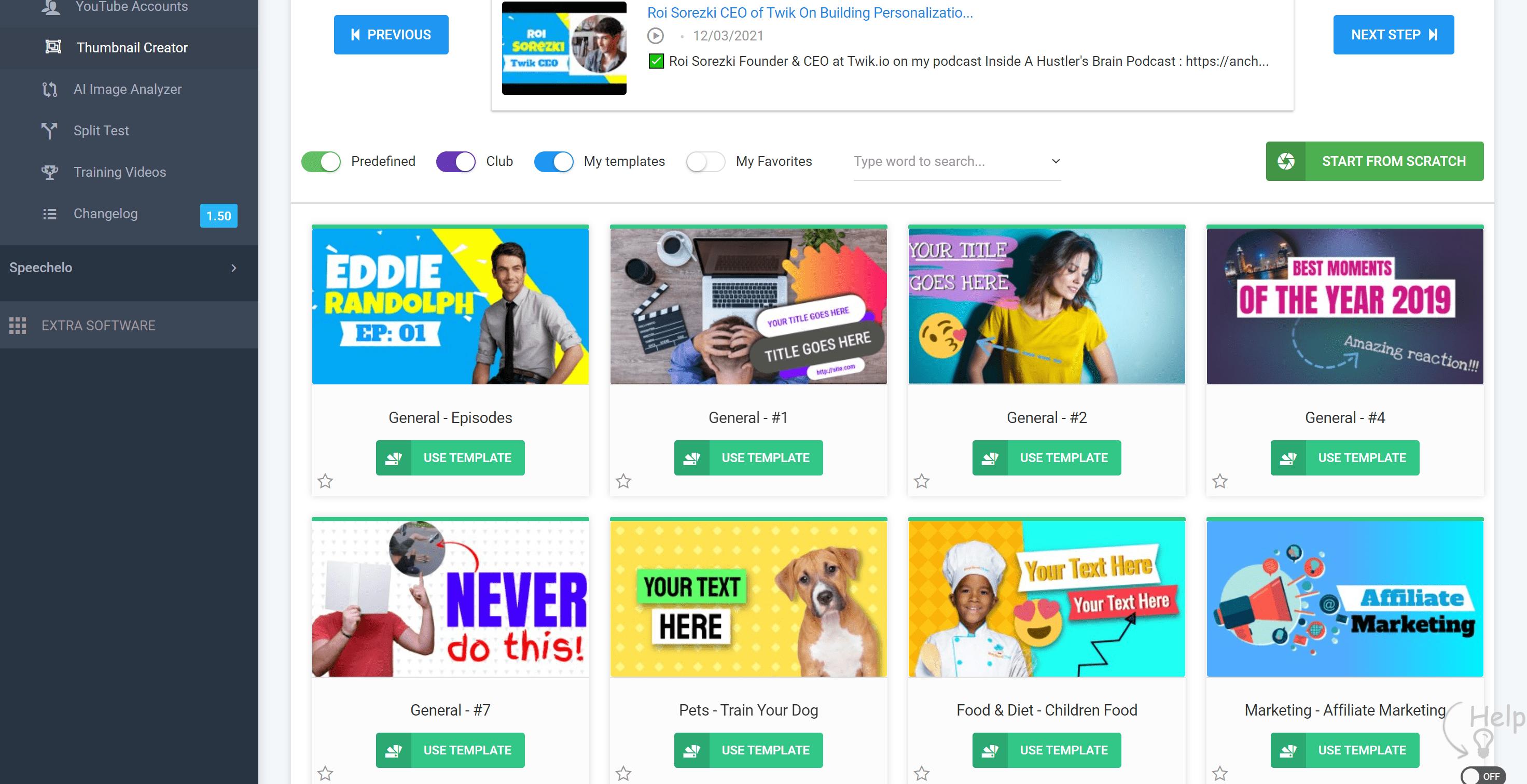 Thumbnail blaster templates