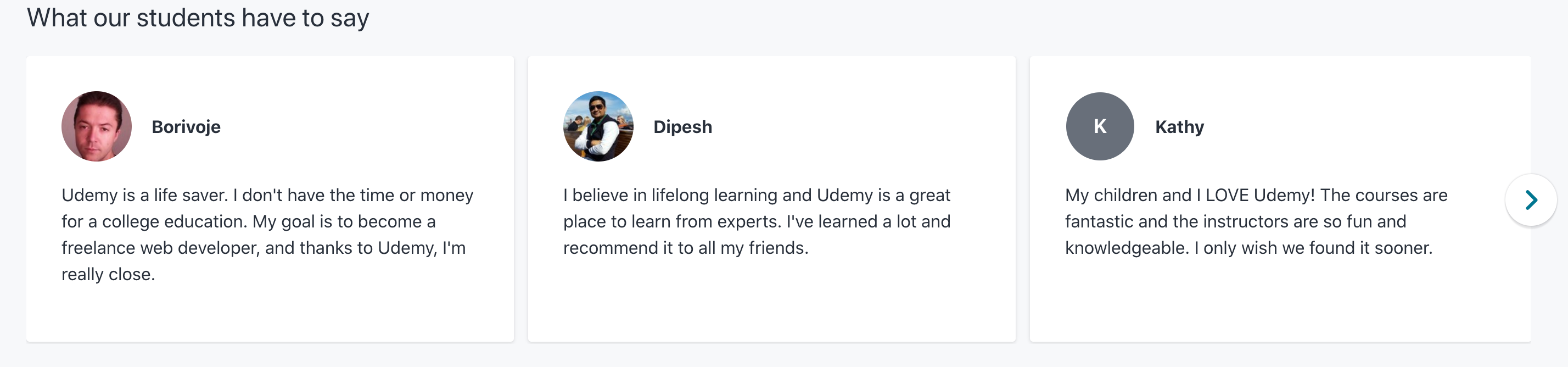 Udemy Customer Reviews