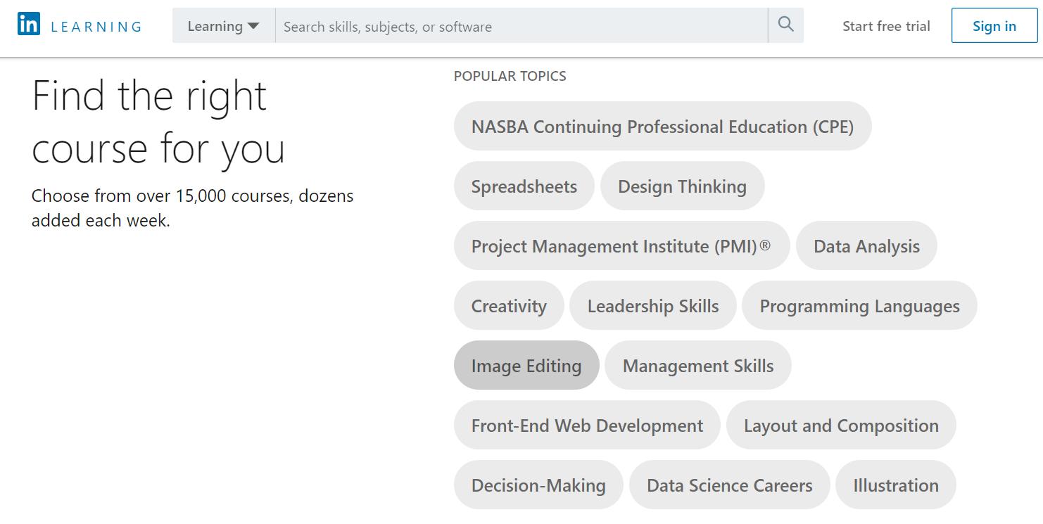 Lynda Vs Coursera - Lynda Course