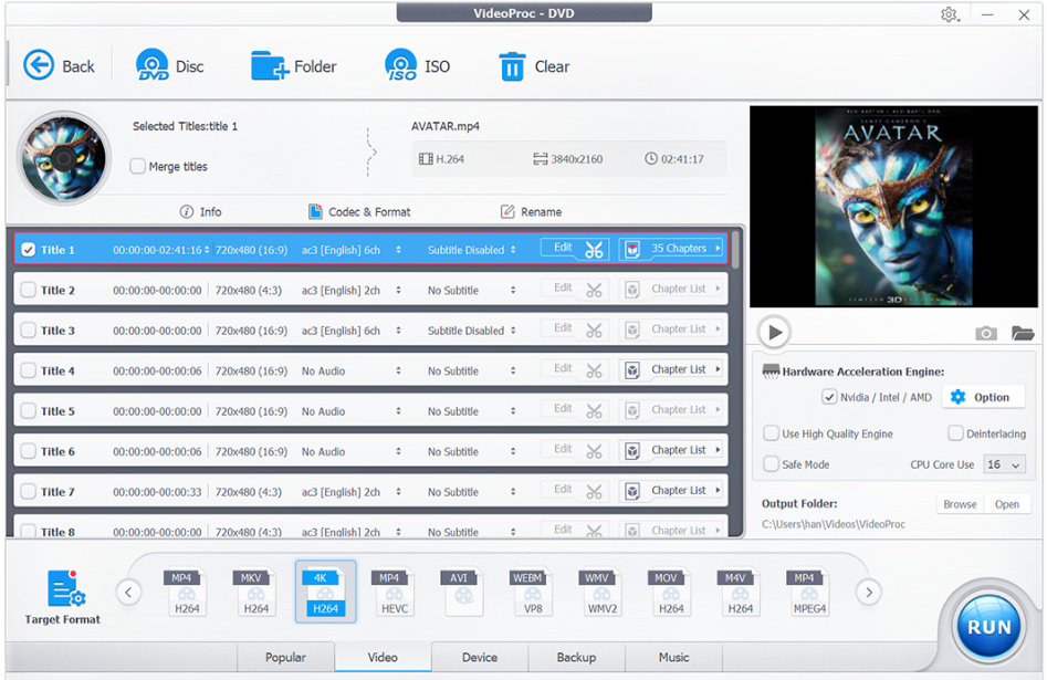 VideoProc Review - DVD Profile